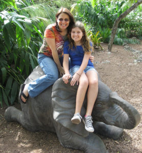 Me and my niece at Zoo Miami