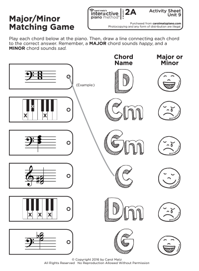 "Interactive Piano Method® - 2A ""Activity Sheet"""