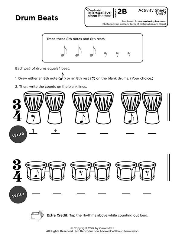 "Interactive Piano Method® - 2B ""Activity Sheet"""