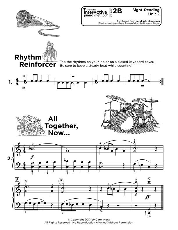 "Interactive Piano Method® - 2B ""Sight Reading"""