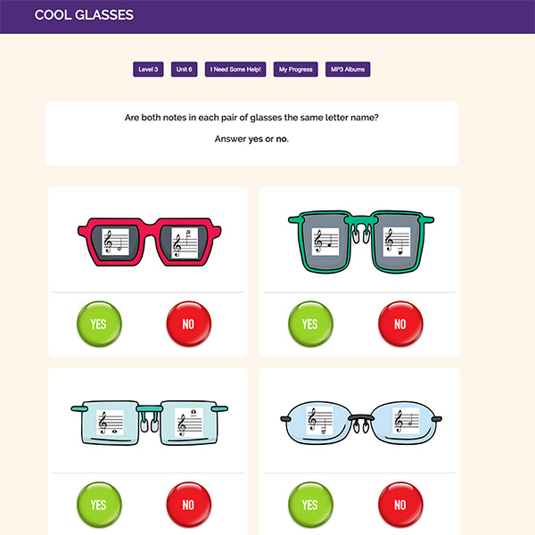 Level 3: Online Activities - Cool Glasses