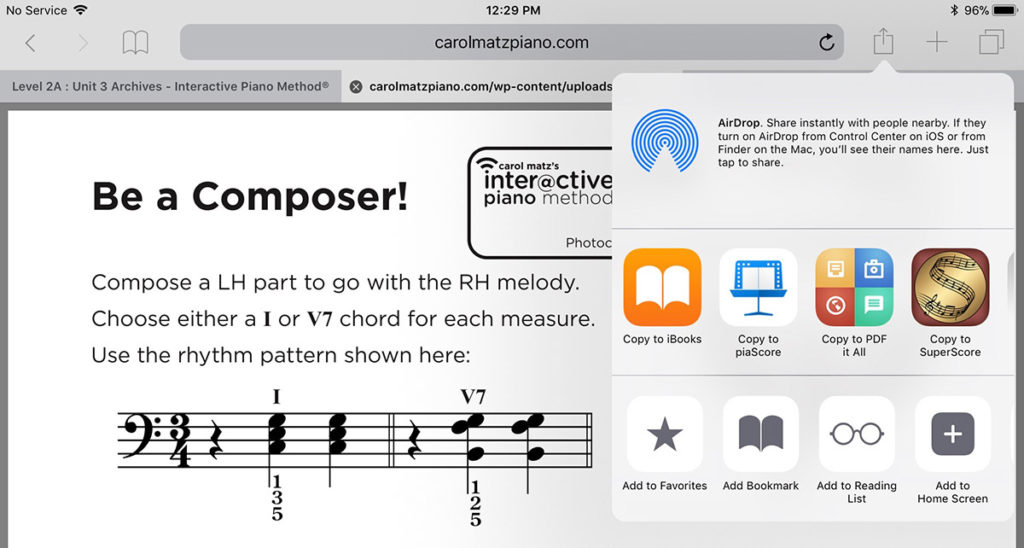How Do I Get the Interactive Piano Method® PDFs onto an iPad®?