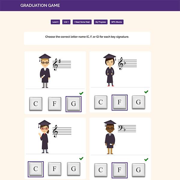 Level 3: Online Activities - Graduation Game