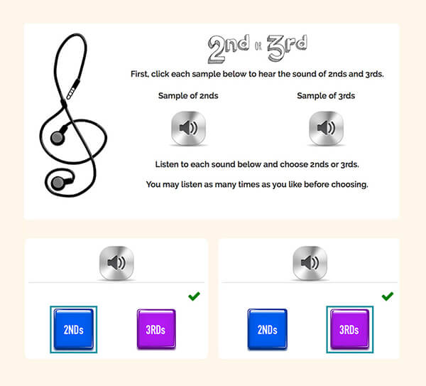 "Interactive Piano Method® - Sample Activity ""Ear Training"""