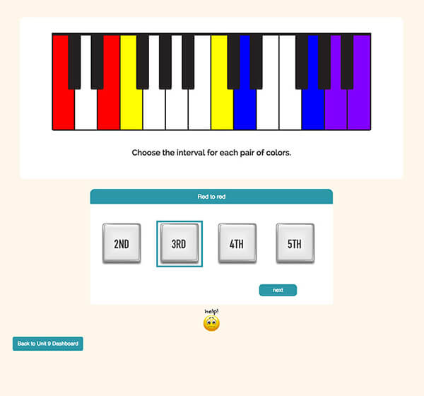 "Interactive Piano Method® - Sample Activity ""Keyboard Challenge"""