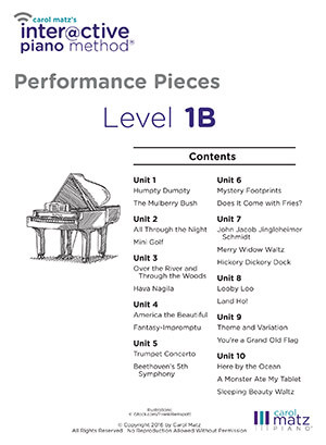 1B Performances Pieces
