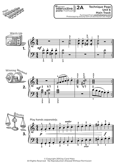 "Interactive Piano Method® - 2A ""Technique"""