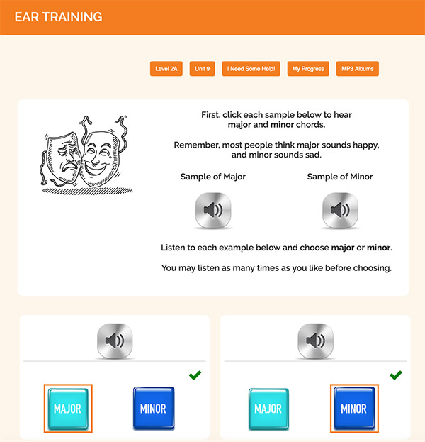 "Interactive Piano Method® - 1A Sample Activity ""Ear Training"""