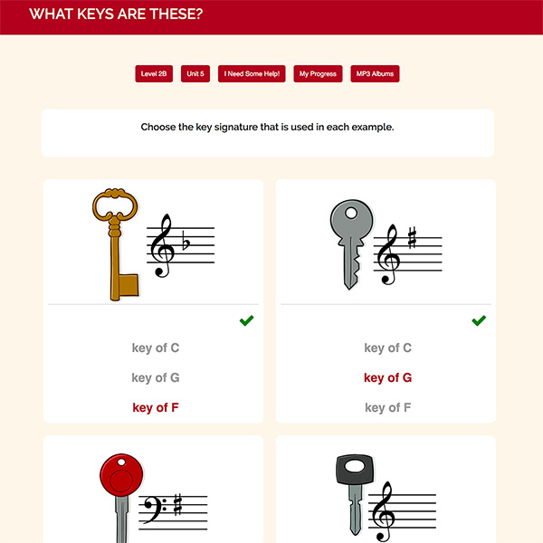 "Interactive Piano Method® - 2B Sample Activity ""WHAT KEYS ARE THESE"""
